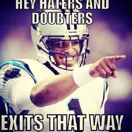 Cam Newton  hey haters poster