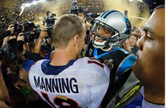 Peyton Manning &Cam Newton SB 50