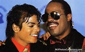 Michael Jackson and Steveland Hardaway-Morris enjoy a bonding moment.